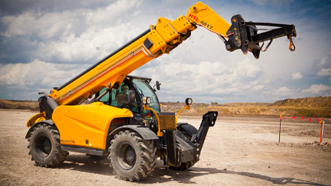 telehandler with crane jib