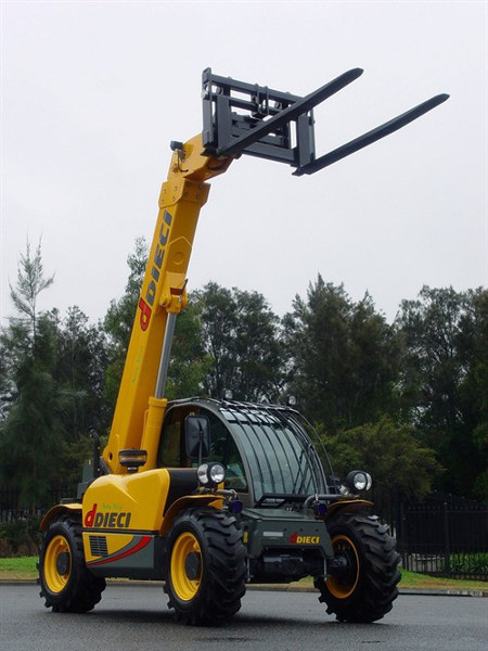 telehandler with forklift