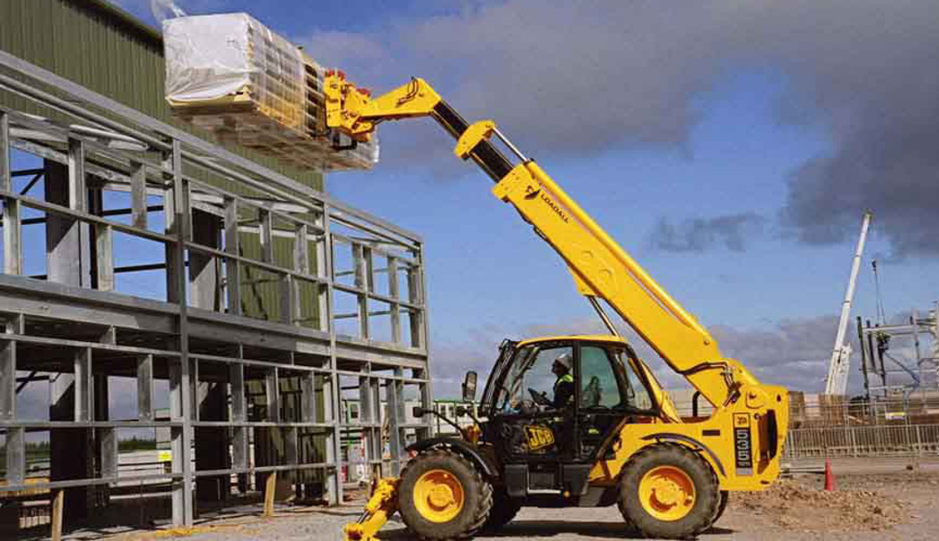 Fork Lift On Building Site